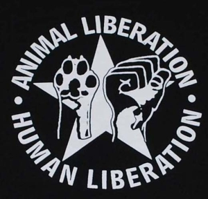 Detailansicht Kapuzen-Pullover: Animal Liberation - Human Liberation