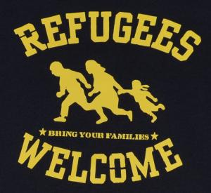 Detailansicht T-Shirt: Refugees welcome