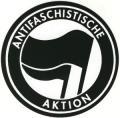 Zur Artikelseite von Aufkleber: Antifaschistische Aktion (schwarz/schwarz) gehen