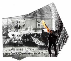 Aufkleber-Paket: ... sometimes action speaks louder than words ...