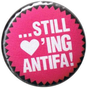 25mm Magnet-Button: ... still loving antifa!