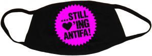 Mundmaske: ... still loving antifa! (pink)