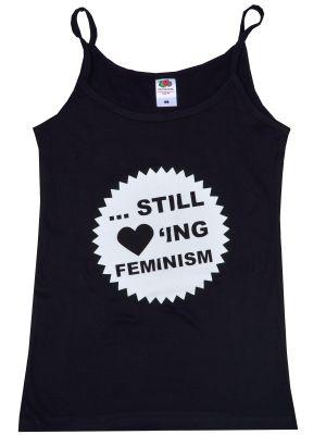 Trägershirt: ... still loving feminism