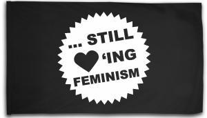 Fahne / Flagge (ca. 150x100cm): ... still loving feminism