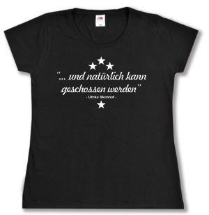 tailliertes T-Shirt: ... und natürlich kann geschossen werden