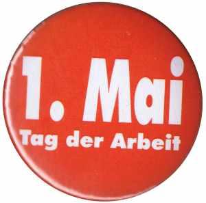 50mm Magnet-Button: 1. Mai - Tag der Arbeit
