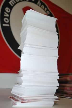 Aufkleber Druckangebot: 1.000 Aufkleber, eigenes Motiv, DIN A7