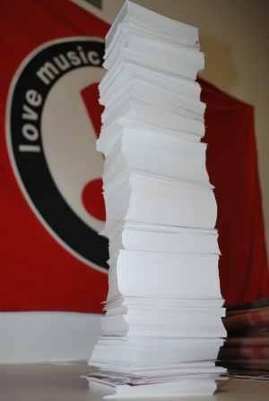Aufkleber Druckangebot: 2.000 Aufkleber, eigenes Motiv, DIN A7