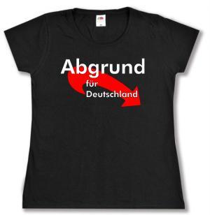tailliertes T-Shirt: Abgrund für Deutschland