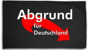 Fahne / Flagge (ca 150x100cm): Abgrund für Deutschland