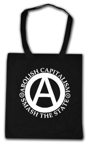 Baumwoll-Tragetasche: Abolish Capitalism - Smash The State