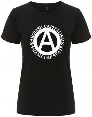 tailliertes Fairtrade T-Shirt: Abolish Capitalism - Smash The State