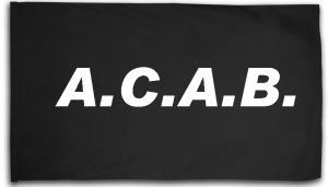 Fahne / Flagge (ca. 150x100cm): A.C.A.B.