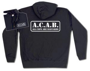 Kapuzen-Jacke: A.C.A.B. - All cops are bastards