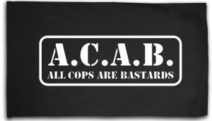 Fahne / Flagge (ca. 150x100cm): A.C.A.B. - All cops are bastards