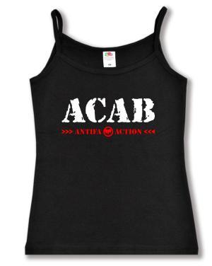 Trägershirt: ACAB Antifa Action