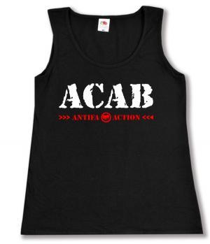 tailliertes Tanktop: ACAB Antifa Action