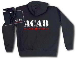 Kapuzen-Jacke: ACAB Antifa Action