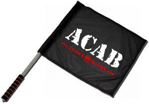 Fahne / Flagge (ca. 40x35cm): ACAB Antifa Action