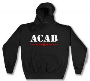 Kapuzen-Pullover: ACAB Antifa Action