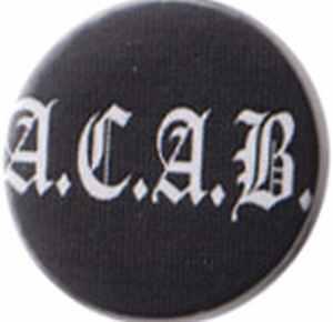 37mm Button: ACAB Fraktur