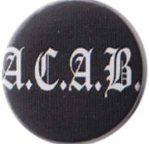 25mm Magnet-Button: ACAB Fraktur