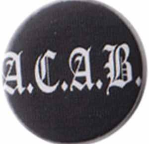 37mm Magnet-Button: ACAB Fraktur
