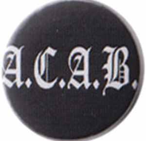 50mm Magnet-Button: ACAB Fraktur