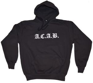 taillierter Kapuzen-Pullover: A.C.A.B. Fraktur