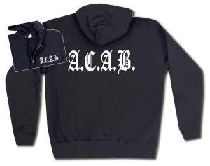 Kapuzen-Jacke: A.C.A.B. Fraktur