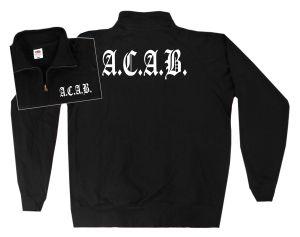 Sweat-Jacket: A.C.A.B. Fraktur