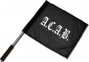 Fahne / Flagge (ca. 40x35cm): A.C.A.B. Fraktur
