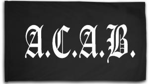 Fahne / Flagge (ca. 150x100cm): A.C.A.B. Fraktur