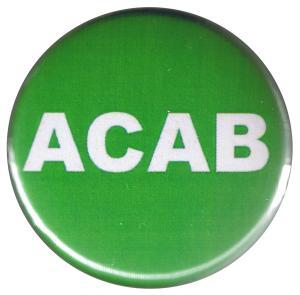 37mm Button: ACAB (grün)
