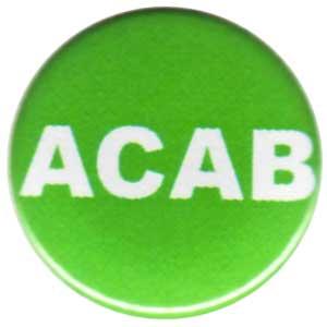 50mm Button: ACAB (grün)