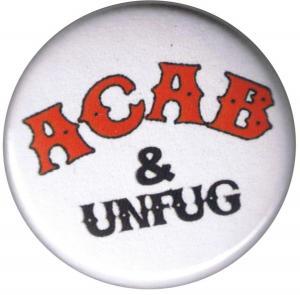 37mm Magnet-Button: ACAB und Unfug
