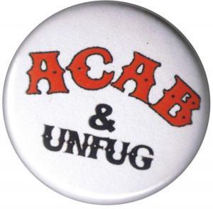 37mm Button: ACAB und Unfug