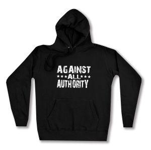 taillierter Kapuzen-Pullover: Against All Authority