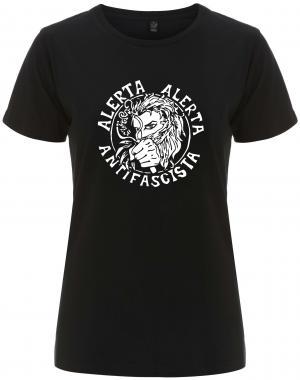 tailliertes Fairtrade T-Shirt: Alerta Alerta Antifascista