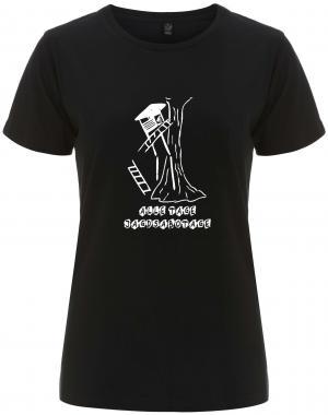 tailliertes Fairtrade T-Shirt: Alle Tage Jagdsabotage