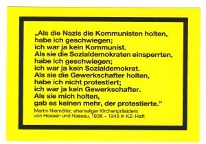 Aufkleber: Als die Nazis die Kommunisten holten...