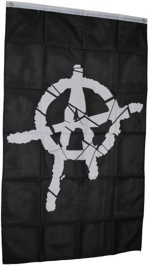 Fahne / Flagge (ca. 150x100cm): Anarchie
