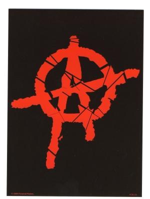 Postkarte: Anarchie A (rot)