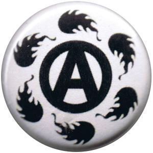 37mm Magnet-Button: Anarchie Feuer