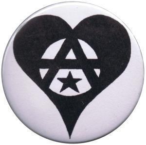 37mm Button: Anarchie Herz