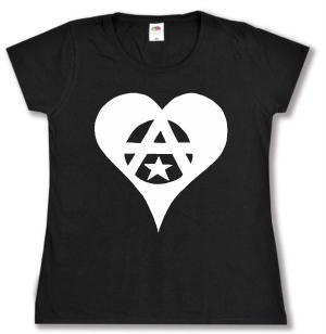 tailliertes T-Shirt: Anarchie Herz