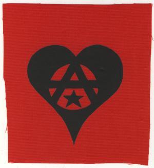 Aufnäher: Anarchie Herz