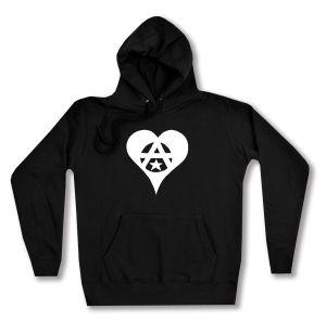 taillierter Kapuzen-Pullover: Anarchie Herz