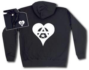 Kapuzen-Jacke: Anarchie Herz