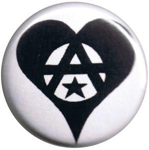 37mm Magnet-Button: Anarchie Herz